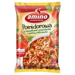 Zupa błyskawiczna pomidorowa z kawałkami pomidorów i...