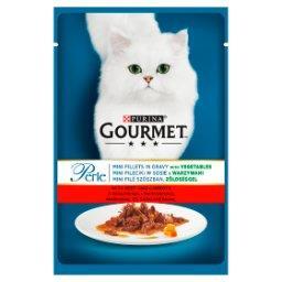 Perle Karma dla kotów mini fileciki w sosie z wołowi...