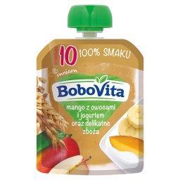 Mango z owocami i jogurtem oraz delikatne zboża po 10 miesiącu