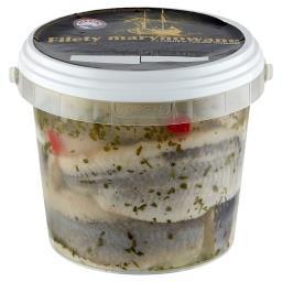 Filety marynowane z cebulą w zalewie olejowej 0,8 kg