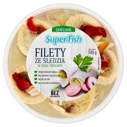 Filety ze śledzia w sosie vinegret