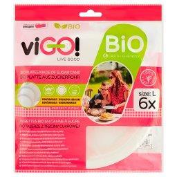 viGO! Bio Talerze z trzciny cukrowej L 6 sztuk
