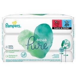 Aqua Pure Chusteczki nawilżane dla niemowląt 3 opako...