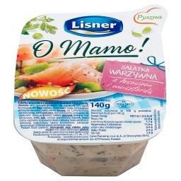 O Mamo! Sałatka warzywna z łososiem i musztardą