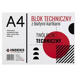 Blok techniczny A4, 10 kartek, biały