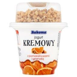 Jogurt kremowy z pomarańczą i granolą