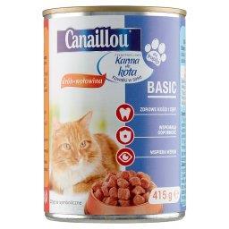 Karma dla kota kawałki w sosie drób-wołowina
