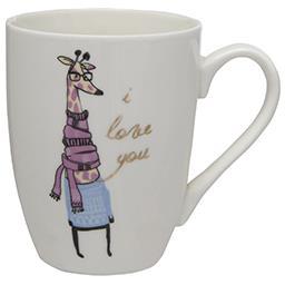 Kubek porcelanowy do kawy i herbaty Pani Żyrafa 320 ...