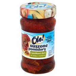 Suszone pomidory z pestkami dyni w oleju z ziołami