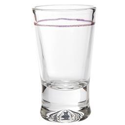 Kieliszki do wódki szklane ZŁOTY PASEK 25 ml 6 szt.