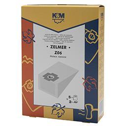 Worki do odkurzaczy Z06 Zelmer 1010F 5 sztuk + 2 fil...