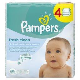 Fresh Clean Chusteczki dla niemowląt, 4 x 64 sztuki