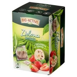 Zielona herbata z truskawką i graviolą 30 g (20 x 1,...