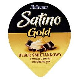 Satino Gold Deser śmietankowy z sosem o smaku czekol...