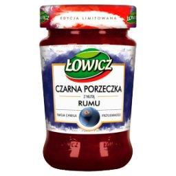 Produkt owocowy z czarnych porzeczek o smaku rumu