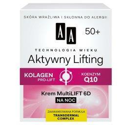Technologia Wieku 50+ Aktywny Lifting Krem Multilift 6D na noc