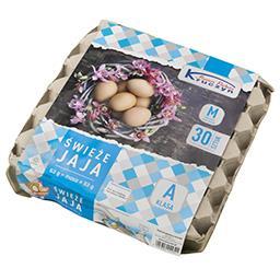 Jaja świeże M 30 sztuk