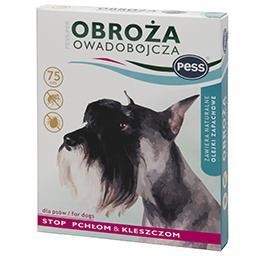 Obroża na pchły i kleszcze zapachowa dla psów 75 cm