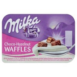 Jogurt z wafelkami z kremem o smaku orzechów laskowy...