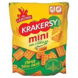 Krakersy mini o smaku ser i cebulka 100 g