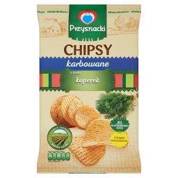 Chipsy karbowane o smaku koperek