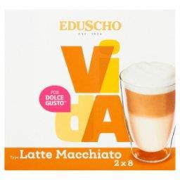 Vida Latte Macchiato Kawa mielona w kapsułkach (8 x 7 g) i mleko w kapsułkach (8 x 15 g)