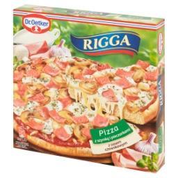 Rigga Pizza z szynką i pieczarkami z sosem czosnkowy...