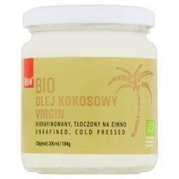 Bio olej kokosowy virgin niefiltrowany tłoczony na z...