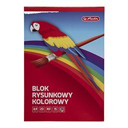 Blok rysunkowy kolorowy A4, 20 kartek