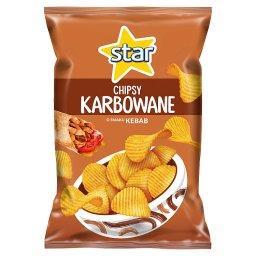 Chipsy karbowane o smaku kebab