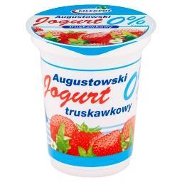 Jogurt Augustowski truskawkowy 0% tłuszczu