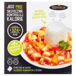 Kurczak w sosie słodko-kwaśnym z ryżem