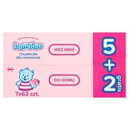 Chusteczki dla niemowląt 7 x 63 sztuki
