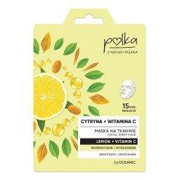 Maska na tkaninie cytryna + witamina C rozświetlenie...