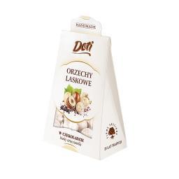 Orzechy laskowe stracciatella w białej czekoladzie