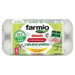 Jaja wielozbożowe z wolnego wybiegu od kur karmionyc...