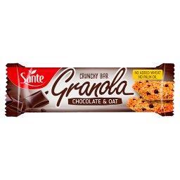 Chrupiący baton granola owsiany z czekoladą