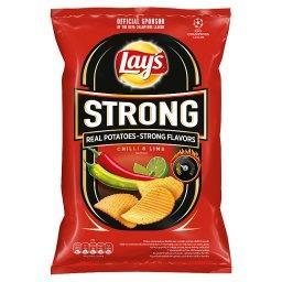 Strong Chipsy ziemniaczane karbowane o smaku ostrego...