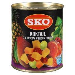 Koktajl z 5 owoców w lekkim syropie