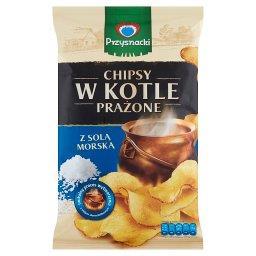 Chipsy w kotle prażone z solą morską