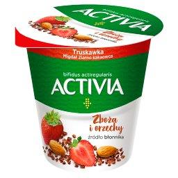 Activia Jogurt truskawka migdał ziarno kakaowca