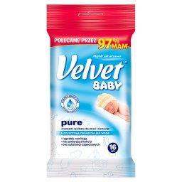 Baby Pure Hypoalergiczne nawilżane chusteczki dla dzieci i niemowląt 16 sztuk
