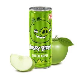 Napój niegazowany angry birds zielone jabłuszko, puszka 250 ml, zawartość soku 20%
