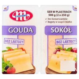 Ser w plastrach bez laktozy Gouda i Sokół 500 g