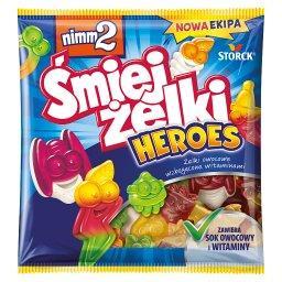Śmiejżelki Heroes Żelki owocowe wzbogacone witaminam...