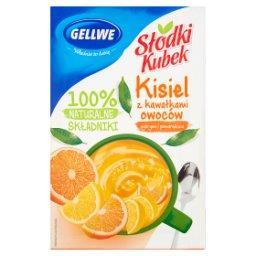 Słodki Kubek Kisiel z kawałkami owoców cytryna pomar...