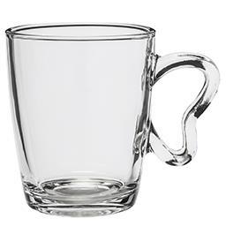 Kubek szklany z ozdobnym uchem Sydney 350 ml
