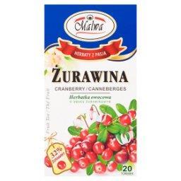 Herbatka owocowa żurawina  (20 x 2 g)