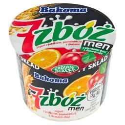 7 zbóż men Jogurt z jabłkiem pomarańczą i zbożami