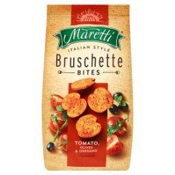 Pieczone krążki chlebowe o smaku pomidory oliwki ore...